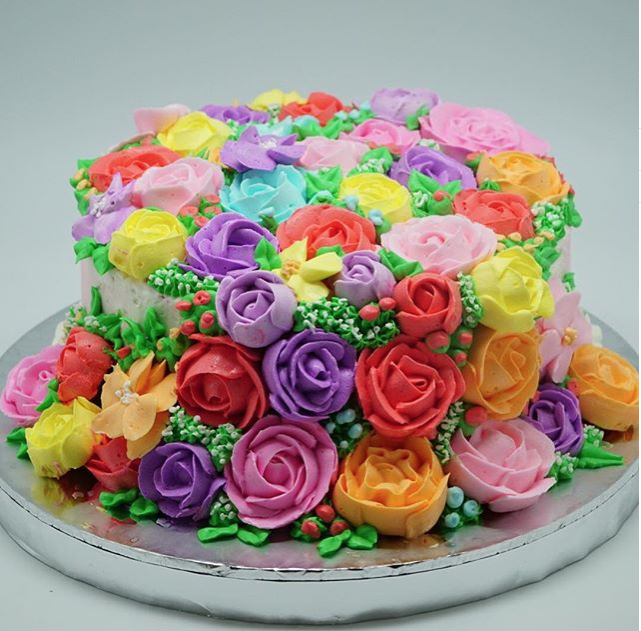 Colourfull Flower Cake