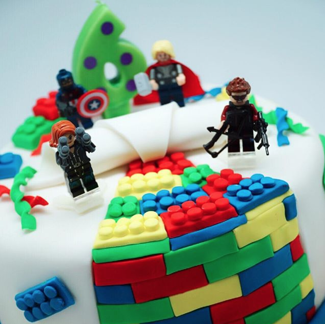 Super Hero Lego Cake